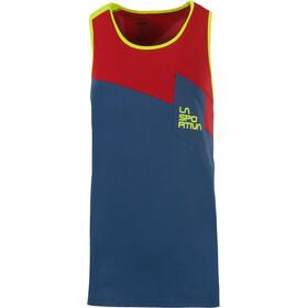 La Sportiva Dude - Haut sans manches Homme - rouge/bleu